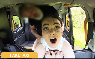FakeTaxi : Natural small tits and tight pussy – Maddison Rose