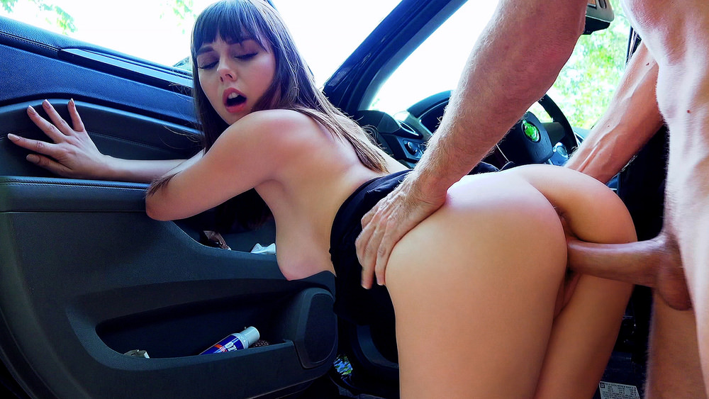 StrandedTeens :  Roadside Sex With Teen Cutie – Shae Celestine